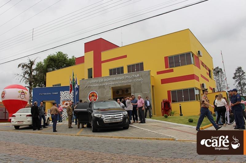 Inauguração quartel do Corpo de Bombeiros Militar de Timbó - Fotos: Rafael David